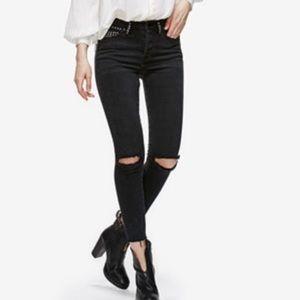 Black studded free peopl jeans